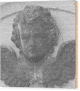Angel In Grey Wood Print