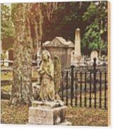 Angel In Stone Wood Print