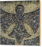 Angel In Stone Wood Print