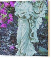 Angel In The Garden Wood Print