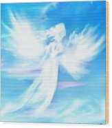 Angel In Thick Paint Wood Print