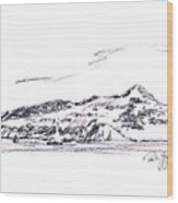 Angel Island From Sausalito Wood Print