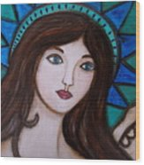 Angel Kim Wood Print