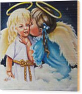 Angel Kiss Wood Print