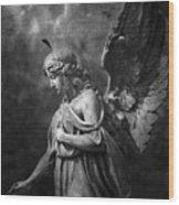 Angel Wood Print by Marc Huebner