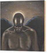 Angel Noir Wood Print