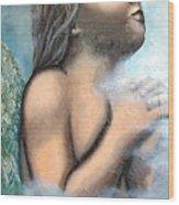 Angel Of Faith Wood Print