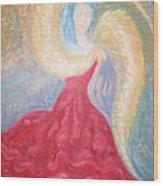 Angel Of Fire Wood Print