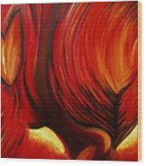 Angel Of Fire Wood Print