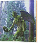 Angel Of Honor No. 01 Wood Print by Ramon Labusch
