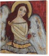 Angel Of Kindness Wood Print by Rain Ririn