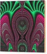 Angel Of Lifes Aura Fractal 114 Wood Print