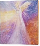 Angel Of Light Wood Print