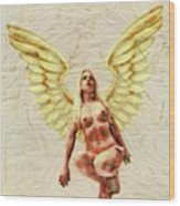 Angel Of Love By Mb Wood Print