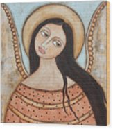 Angel Of Silence Wood Print