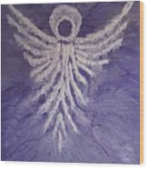Angel Of Spring Wood Print
