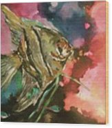 Angel Of The Sea Wood Print