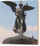 Angel Of The Waters Pigeons Wood Print