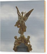 Angel On The Queen Victoria Memorial Wood Print