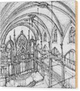 Angel Orensanz Sketch 3 Wood Print by Adendorff Design