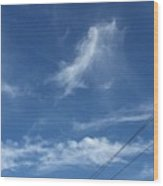 Angel Over Two Notch Road Wood Print