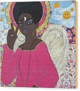 Angel Peace-n-love-n-stuff Wood Print