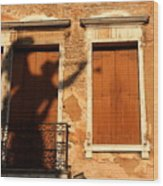 Angel Shadow In Venice Wood Print