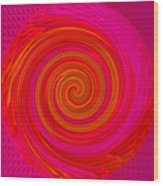 Angel-spiral Wood Print by Ramon Labusch