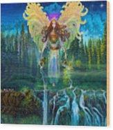 Angel Tarot Card Archangel Jophiel  Wood Print
