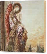Angel Traveller Wood Print by Gustave Moreau