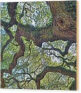 Angel Tree Abstract Wood Print