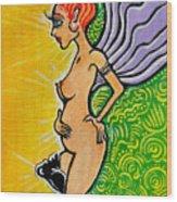 Angel Vibe 3 Wood Print by Melissa Wyatt