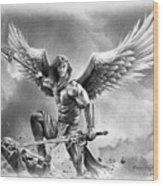 Angel Warrior Wood Print