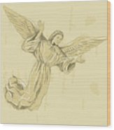 Angel With Arms Spread Wood Print