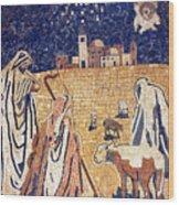 Angel With Shepherds Wood Print