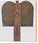 Angel002 Wood Print