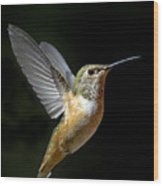 Angelic Hummer Wood Print