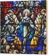 Angelic Scene Wood Print