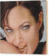 Angelina Jolie - Cold Seduction  Wood Print