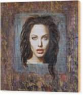 Angelina Jolie Wood Print