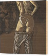 Angelique With Men Wood Print