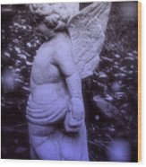 Angels And Fireflies Wood Print