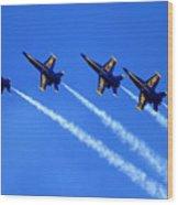 Angels Four Wood Print