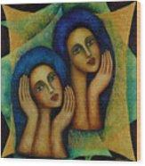 Angels In Blue. Wood Print
