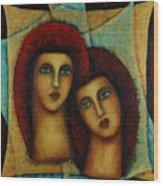 Angels In Red. Wood Print