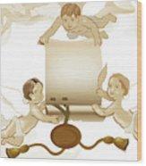 Angels Invitation Wood Print