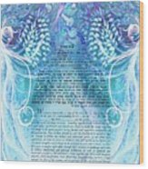 Angels Ketubah-reformed And Interfaith Version Wood Print