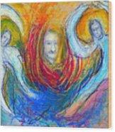 Angels Of Mercy Wood Print