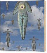 Angels Of Quebec Wood Print