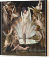 Angels Surround Cupid  Wood Print